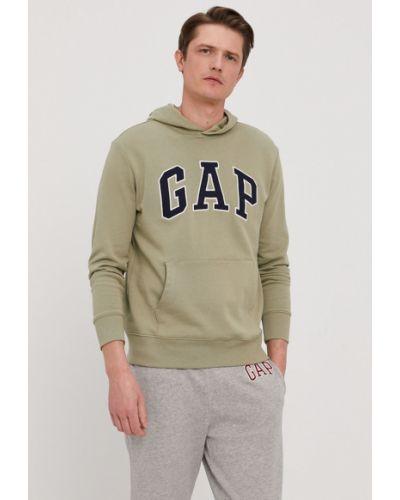 Zielona bluza z kapturem bawełniana Gap