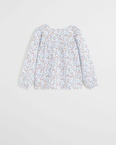 Блуза белая на пуговицах Mango Kids