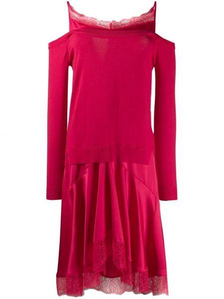Платье миди ажурное с длинными рукавами Twin-set