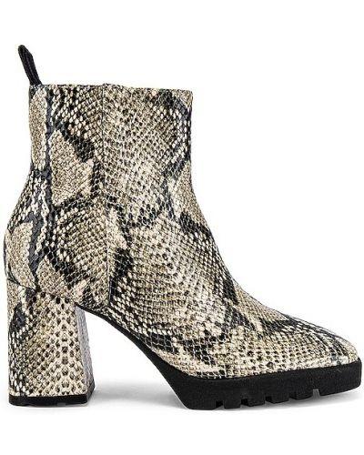 Черные кожаные ботинки на каблуке Schutz