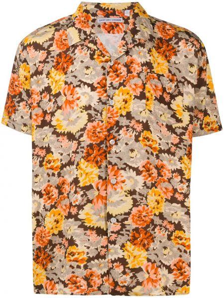 Koszula klasyczna prosto z nadrukiem Daniele Alessandrini