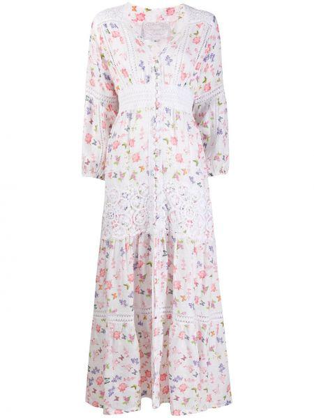 С рукавами белое платье с V-образным вырезом на пуговицах Temptation Positano