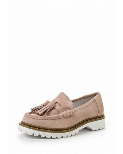 Туфли на каблуке розовый Bronx