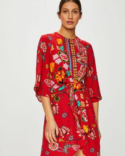 Платье мини из вискозы расклешенное Desigual