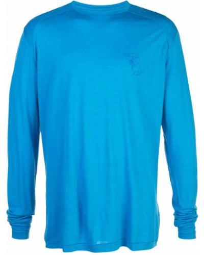 Рубашка с длинным рукавом - синяя Klättermusen