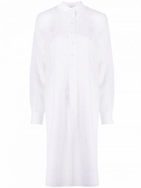 Белое платье макси трапеция на пуговицах Michael Michael Kors