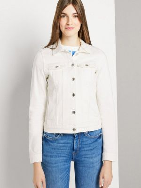 Джинсовая куртка весенняя белая Tom Tailor Denim