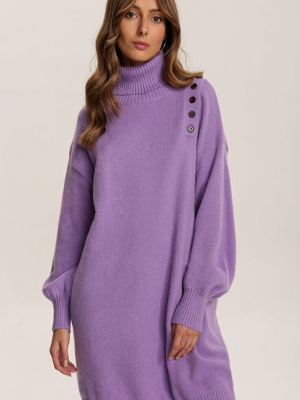 Fioletowa tunika materiałowa Renee