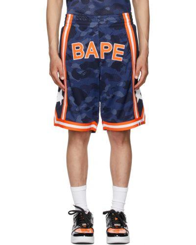Белые баскетбольные шорты Bape