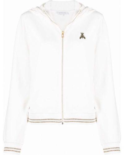 Bluza z nadrukiem z printem - biała Patrizia Pepe
