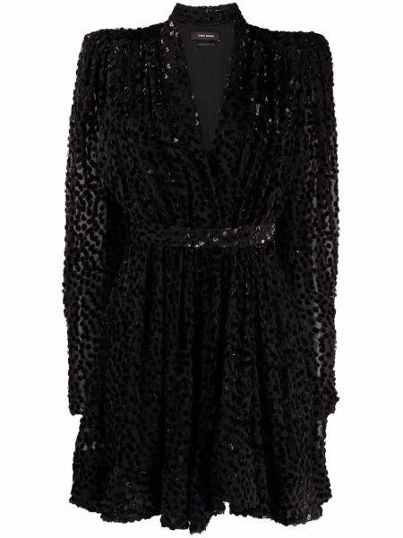 Шелковое платье макси - черное Isabel Marant