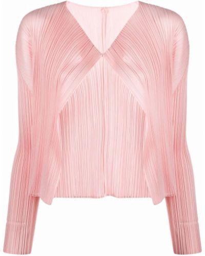 Кардиган длинный - розовый Pleats Please Issey Miyake