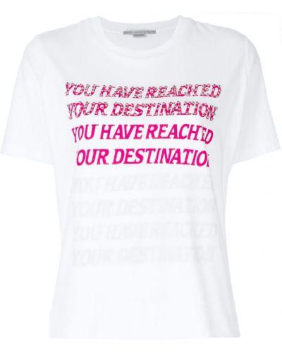 Белая футболка прямая Stella Mccartney