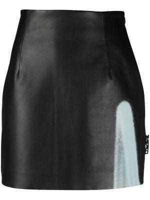 Кожаная юбка мини - белая Off-white