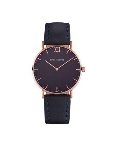 Часы водонепроницаемые кварцевые с кожаным ремешком Paul Hewitt
