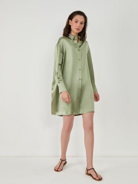 Платье платье-рубашка шелковое 12storeez