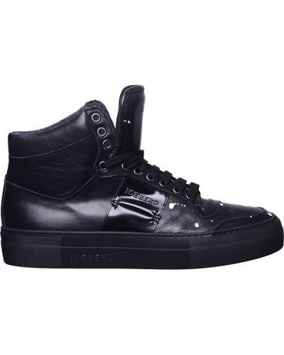 Черные кроссовки с мехом Iceberg
