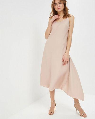Вечернее платье осеннее бежевое Nastasia Sabio
