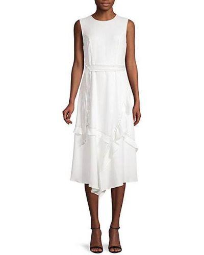 Sukienka w kształcie litery A z falbanami asymetryczna z paskiem Calvin Klein