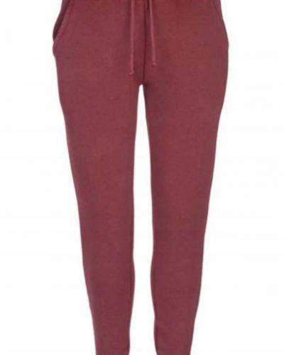 Czerwone spodnie dresowe bawełniane Firetrap
