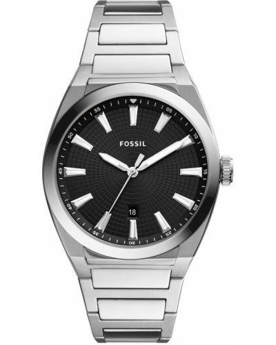 Zegarek kwarcowy srebrny Fossil