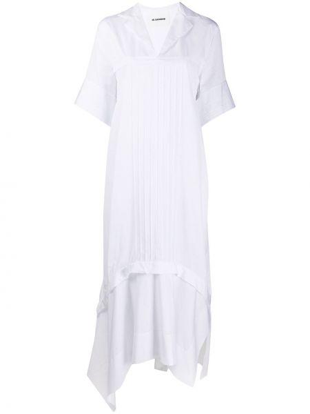 Платье мини миди со складками Jil Sander
