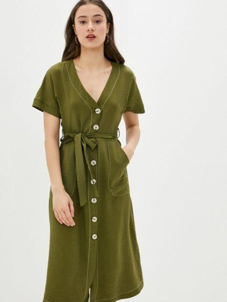 Платье прямое зеленый Defacto