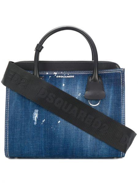 Кожаная сумка в клетку сумка-тоут Dsquared2