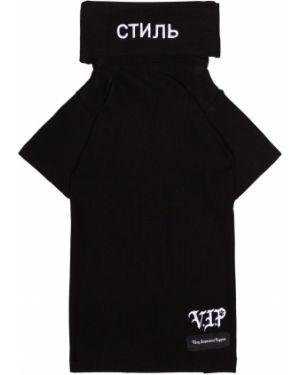 Черный джемпер с вышивкой Heron Preston