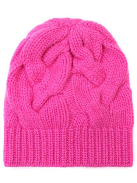Кашемировая классическая розовая шапка без застежки Panicale