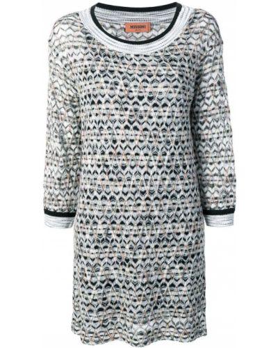 Платье трикотажное в рубчик Missoni