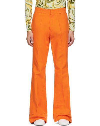 Pomarańczowe spodnie bawełniane Raf Simons