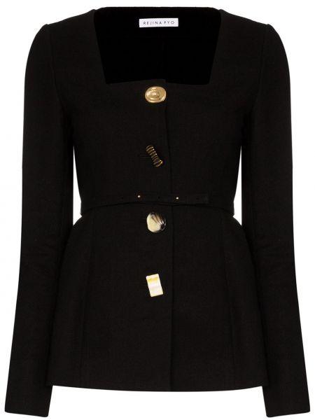 Куртка черная на пуговицах Rejina Pyo
