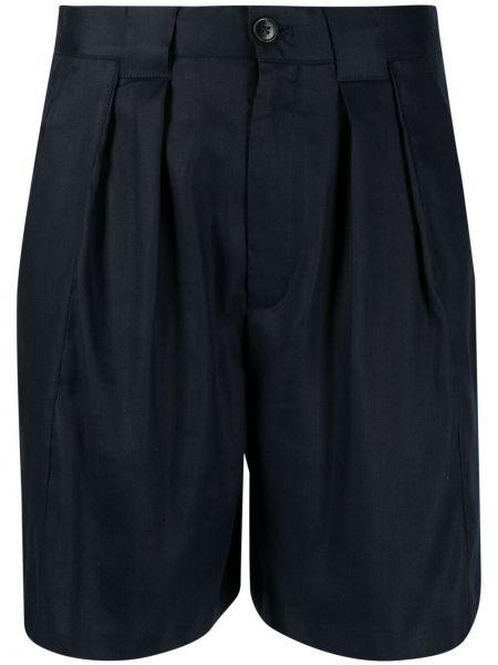 Синие льняные шорты с карманами Closed