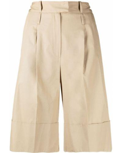 Хлопковые с завышенной талией шорты с карманами Jejia