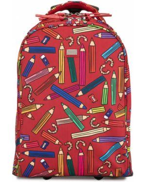 Walizka skórzany na kołach Dolce & Gabbana Kids