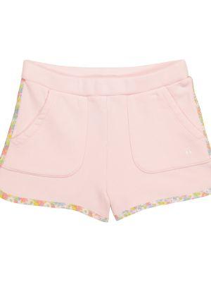 Ватные розовые хлопковые шорты Bonpoint