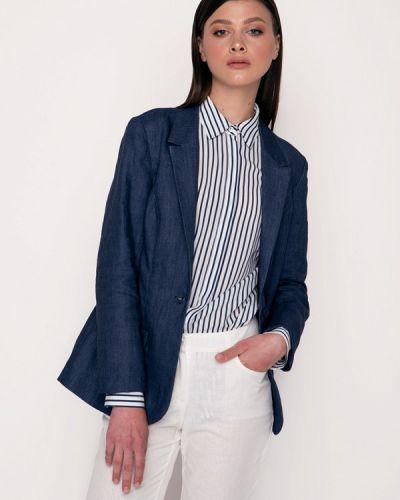 Синий пиджак осенний Garmoniya