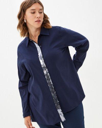 Синяя блузка осенняя Silver String