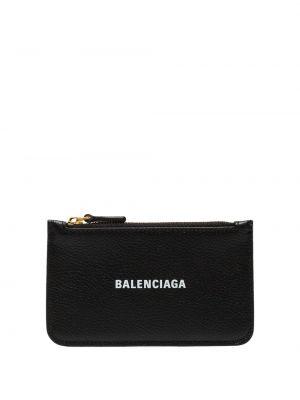 Черный кожаный кошелек для монет с карманами Balenciaga