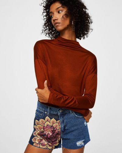 Джинсовые шорты с карманами на пуговицах Mango