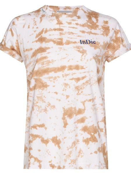 Хлопковая футболка - бежевая Forte Couture