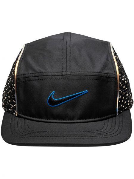 Czarna czapka z siateczką Supreme