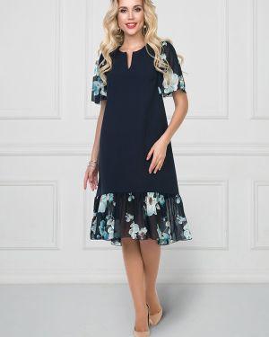 Комбинированное шифоновое платье со вставками на молнии Bellovera