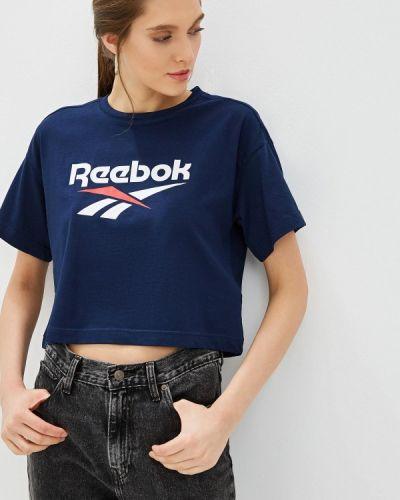Поло синий Reebok Classics