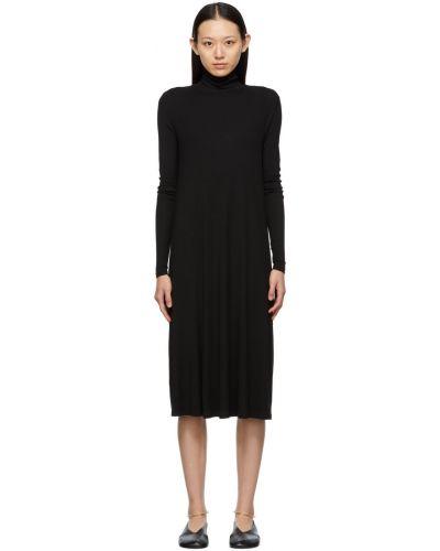 Платье макси с длинными рукавами - черное Max Mara Leisure