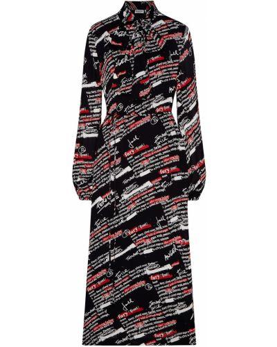 Платье миди с V-образным вырезом с вырезом Essentiel Antwerp