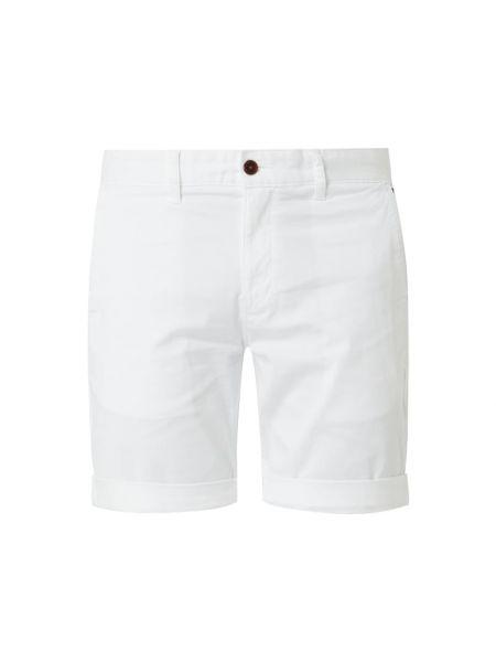 Bawełna bawełna biały dżinsowe szorty z kieszeniami Tommy Jeans