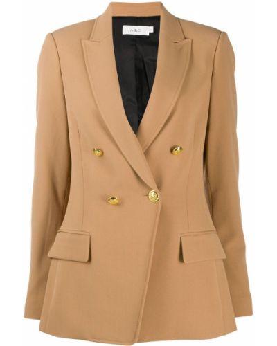 Удлиненный пиджак двубортный с карманами на пуговицах A.l.c.