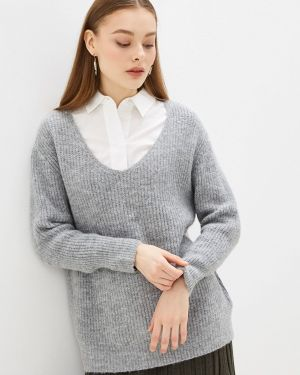Пуловер - серый Moocci